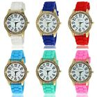 Fashion Unisex Geneva Silicone Jelly Gel Quartz Analog Sport Wrist Watch
