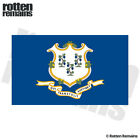 Connecticut State Flag Decal CT Motorcycle Car Truck Gloss Sticker HVG