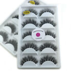 10 Pairs Black 100% Real Mink 3D False Eyelashes Natural Wispy Eye Lashes