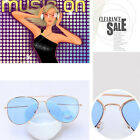 Men Women Hot Retro UV400 Metal Frame Outdoor Sunglasses Reflective Lens