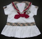 BABY GIRL DRESS Soft Cotton White or Beige Designer Dress Party, Casual Clothing
