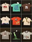 NWT Gymboree Baby Boys Graphic Tee Shirt Selection Size 0-3 3-6 M & 6-12 M