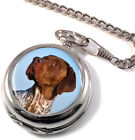 Braque Francais Pointer Dog Full Hunter Pocket Watch (Optional Engraving)
