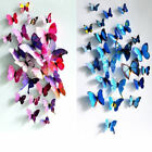 Colourful 3D Butterflies Wall Art Stickers Wall Decal Home Decoration Girls Room