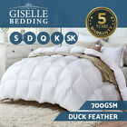 Giselle Bedding Duck Down Feather Quilt 700GSM Winter Duvet Doona All Sizes