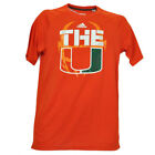 NCAA Adidas Miami Hurricanes The U Logo Canes Orange Mens Tshirt Tee Game