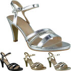 Womens Strappy Sandals Heels Ladies Wedding Bridesmaid Bridal Party Shoes Size