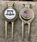 UNIQUE 2010 US OPEN PEBBLE BEACH 5 STAR JEWEL Dual USA 2 Ball Marker Divot Tool
