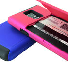 samsung note 4 accessories - For Samsung Galaxy Note 4 Hybrid Credit ID Card Flip Holder Phone Case Cover