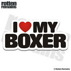 Boxer I Love My Dog Decal Dogs Sign Car Truck Gloss Sticker HVG