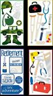 retirement scrapbook - U CHOOSE Sandylion Essentials Stickers DOCTOR - MILITARY - TOOLS - RETIREMENT