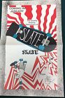 """ADVENTURES OF SLATE SKATE (1986) Hot Shot Comix 11"""" x 17""""  promotional poster"""