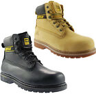 Caterpillar CAT Holton Non-Safety Honey Soft Toe Lace Up Smooth Leather Mens