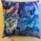 NEW UNICORN & PEGASUS ON 15 x 15 COMPLETE COTTON PILLOWS - YOU CHOOSE STYLE
