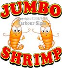 Jumbo Shrimp DECAL (CHOOSE YOUR SIZE) Seafood Food Truck Concession Sticker
