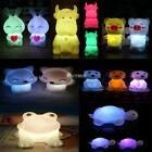 Cute Animal Shaped LED 7 Color Changing Night Light Lamp Room Decor Kids Gift ^