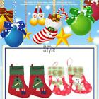 Appliques Christmas Stocking Christmas Tree Hanging Ornaments Decor T
