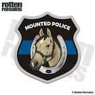 Mounted Police Patrol Buckskin Horse Decal Thin Blue Line Gloss Sticker HGV