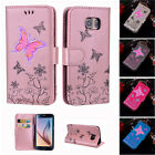 Butterfly Pattern PU Leather Wallet Flip Stand Case Cover for Samsung Galaxy S5