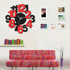 Modern Creative Fashion Glass Wooden Mute Bedroom Wall Clock 2 Colors Optional