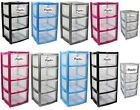 PLASTIC STORAGE DRAWERS DRAW TOWER TROLLEY UNIT MINI DESKTOP / LARGE HOME SCHOOL