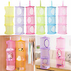3 Shelf Net Mesh Kids Toy Hanging Storage Organizer Bag Pouch Wall Hanger Closet