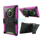 RUGGED ARMORED HYBRID CASE COVER+CLIP HOLSTER FOR NOKIA LUMIA PHONES+STYLUS/PEN
