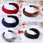 Women Velvet Feel Hair Band Headband Navy Blue,Wine Red,Brown Hair Band Hoop Pop