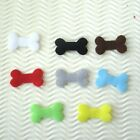 "80 pcs x 1.25"" Padded Puppy Doggy's Bone Felt Appliques for Dog Collar/Bow ST328"