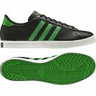 Adidas Greenstar Mens Casual Low Smooth Leather Lace Up Black Trainers G95596