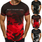 2018 Summer  Men's T-shirt short sleeve top Camo Men New Casual O neck S-3XL New