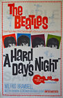 BEATLES Concert Poster Hard Days Night Vintage Wall Canvas Print A1/A2/A3/A4