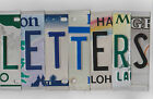 MIXED COLOR License Plate Letters for Art фото