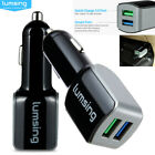 New QC3.0 24W 4.8A 2-Port Car Charger Adapter For Samsung iPhone 5 6 6s 7 LG HTC