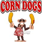Corn Dogs DECAL (Choose Your Size) Monkey Concession Food Truck Vinyl Sticker