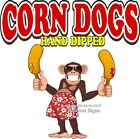 Corn Dogs DECAL (Choose Your Size) Monkey Concession Food Truck Sticker