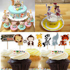 24pcs Animal/Flower Fairy Cupcake Toppers Picks Birthday Party Baby Shower Decor