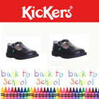 Kickers Kick  Lo T Bar Juniors Leather Back to School Shoes Size 31 - 35