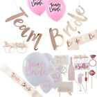 Team Bride Hen Night Out Bachelorette Party Decoration Accessories Set New