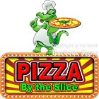 Pizza By the Slice DECAL (Choose Your Size) Food Truck Concession Vinyl Sticker