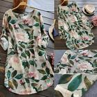 Summer Women Sexy Loose Short sleeve Floral Printed Tunic Tops Shirt Mini Dress