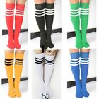 WOMEN FOOTBALL BASKETBALL BASEBALL SPORTS OVER KNEE THIGH HIGH STRIPED SOCKS IL5