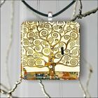 KLIMT PART OF TREE OF LIFE #2 PENDANT NECKLACE 3 SIZES CHOICE -fth4Z
