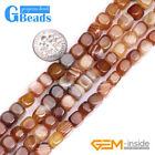 "Botswana Stripe Agate Gemstone Jewelry Beads Free Shipping 15"" Assorted Shapes"