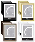 6 X A4 CERTIFICATE PHOTO PICTURE FRAMES WALL MOUNTABLE FREE STANDING FRAME