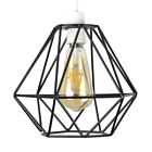 Modern Geometric Ceiling Light Shade Pendant Lampshade LED Vintage Filament Bulb