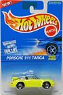 Hot Wheels Porche 911 Targa #16300 New in Package 1995 Lime Yellow 3+ 1:64