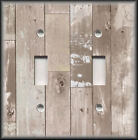 Metal Light Switch Plate Cover - Rustic Home Decor Aged Wood Planks Switchplates
