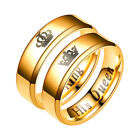 1PC Her King His Queen Crown Gold Plated Finger Rings Wedding Engagement Jewelry