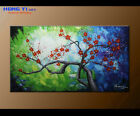 Original Plum Blossom Abstract oil Painitng Modern ART On Canvas Wall Art Framed